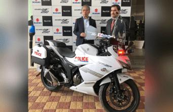 Suzuki Gixxer SF 250-Gurugram Police