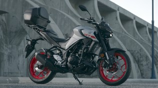 Yamaha MT-03 with all official accessories