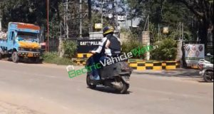 TVS electric scooter-spy shot