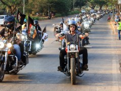 Harley Owners Group in Goa at the parade held as part of 8th India H.O.G. Rally