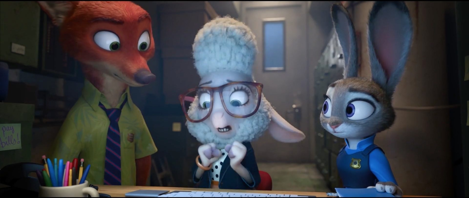 meet assistant mayor bellwether in this new zootopia promo clip in a
