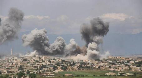 غارات روسية وقصف صاروخي يخلف قتيلان في إدلب ونزوح خوفا من التصعيد
