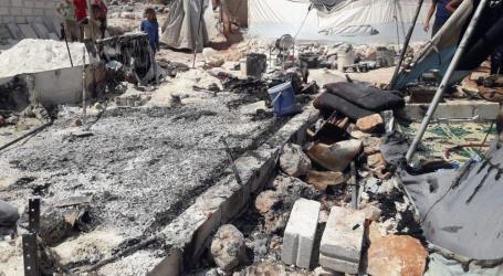 احتراق خيمة في الشمال السوري ووفاة امرأة وأطفالها