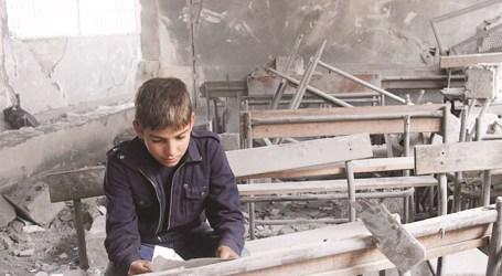 انهيار سقف مدرسة في ريف حمص وسقوط ضحايا في صفوف الطلاب