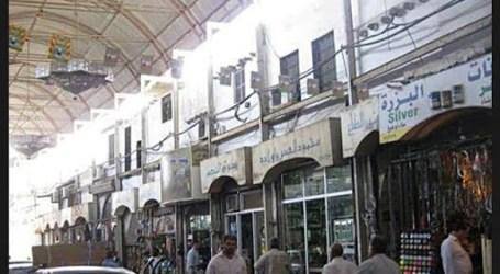 جمارك دمشق تداهم محال في سوق المناخلية وتصادر بضائع