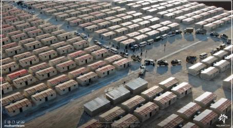 مئات العائلات تنتقل من مخيمات اعزاز إلى منازل مبنية من الطوب