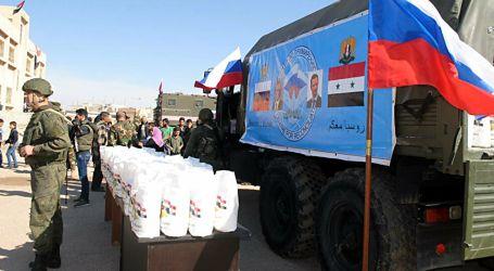 سلل غذائية روسية منتهية الصلاحية في درعا لتعويم الأسد
