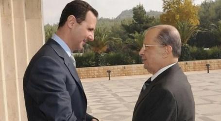 عون والأسد يبحثان ملف ترسيم الحدود البحرية