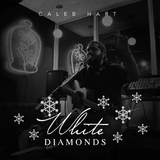 Caleb Hart's album artwork for christmas EP White Diamonds