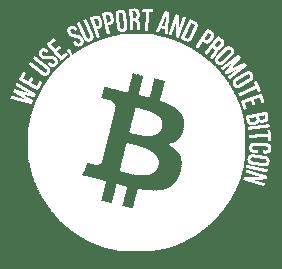bitcoin round logo on white