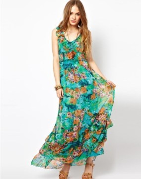 beautiful-printed-Floral-Dress-for-party