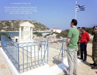 Lady of Ro (Κυρά της Ρω), raised the flag every day for 40 years on the island of Kastellorizo, regardless of the weather, until her death.