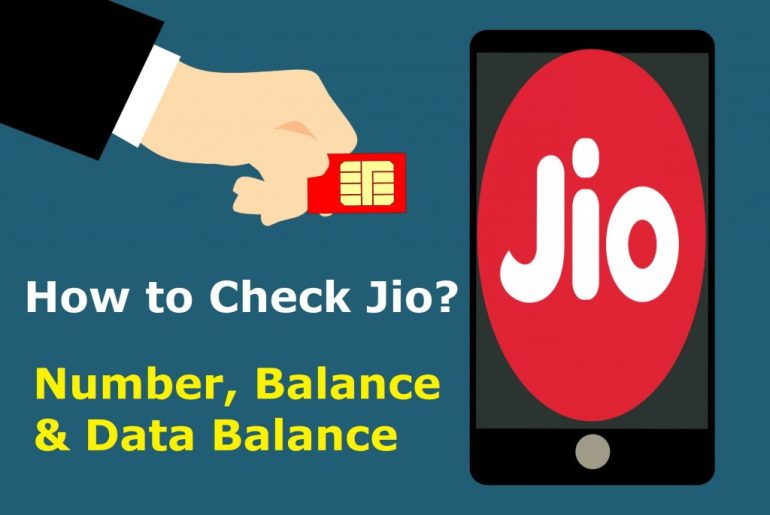 How to Check Jio? Number, Data & Balance 1