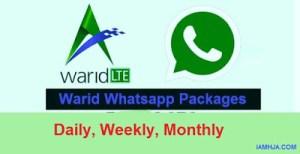 warid whatsapp package