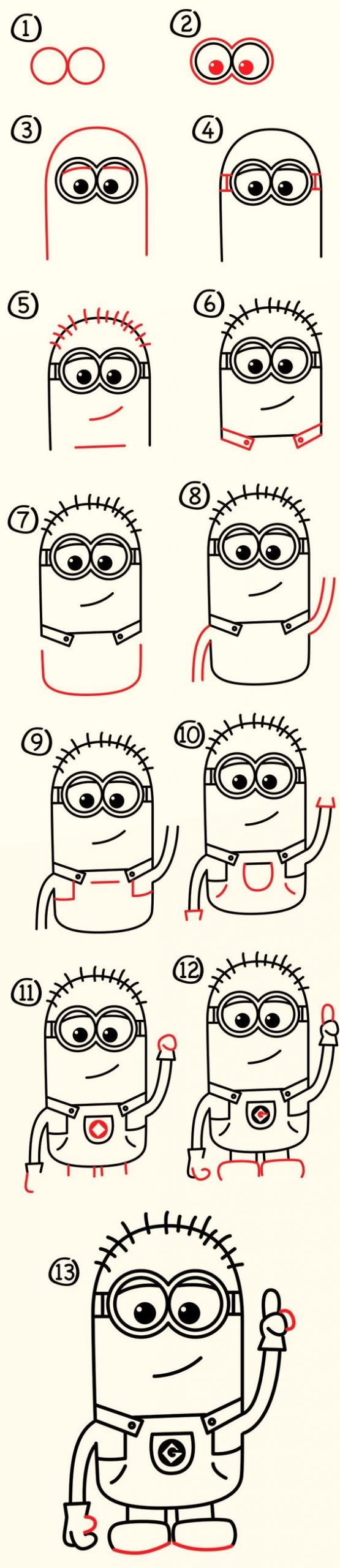 Minion - Step by Step Guide to Draw