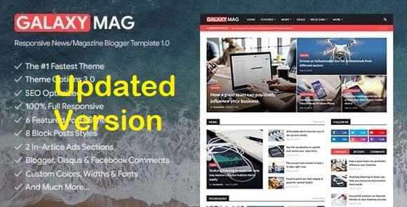 GalaxyMag Blogger Template