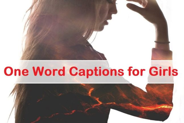 One Word Captions for Girls