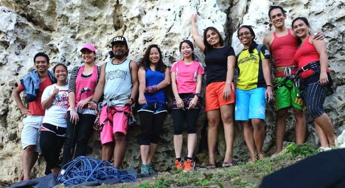 My Awesome Climbing Team (from the right): Neil, Marj, Gly, Enie, Kara, Jewel, me, Apple, Gian, and Sheila.