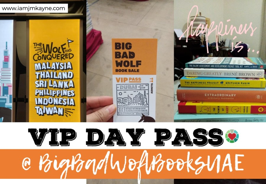 BigBadWolfBooks UAE - iamjmkayne VIP Day pass