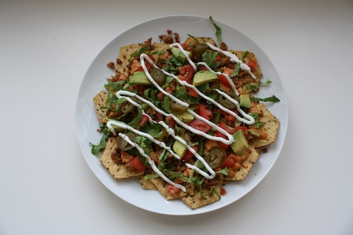 Supreme Nachos with Easy Dairy Free Queso