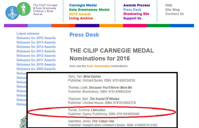 Carnegie Nominations Liberation screenshot All