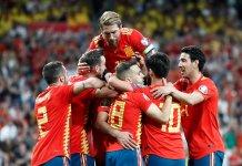 España goleó a Suecia