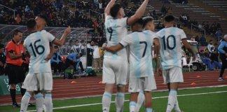 Argentina le ganó a Uruguay