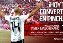 Javier Mascherano será presentado en Estudiantes
