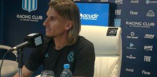 Sebastián Beccacece en conferencia de prensa