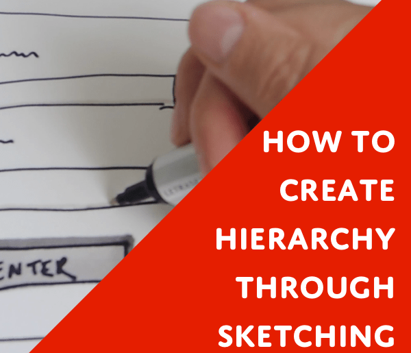 ux sketching hierarchy
