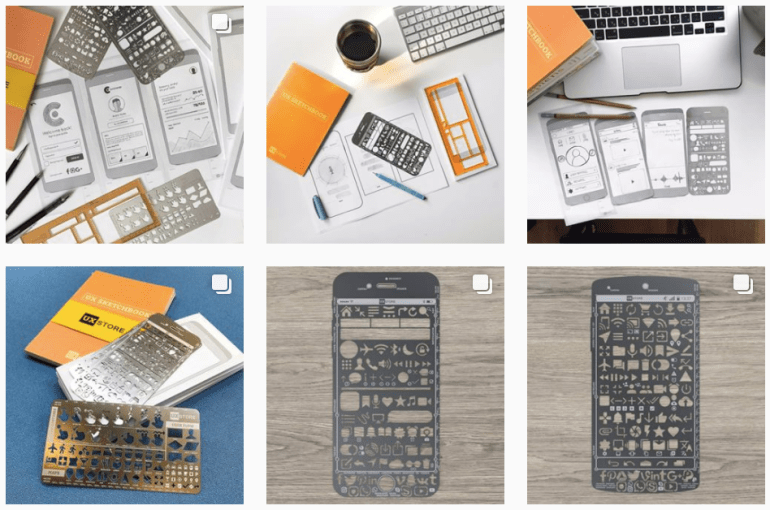 A selection of the UX Store's prototyping and sketching tools