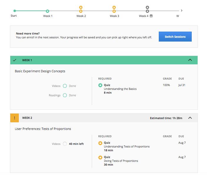 Coursera screenshot