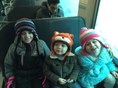 Train ride with cousins Lena and Hollyn