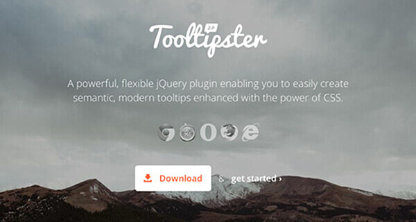 Tooltipster - 15 flashy jQuery plugins