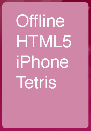 opening screen - How to Make an HTML5 iPhone App