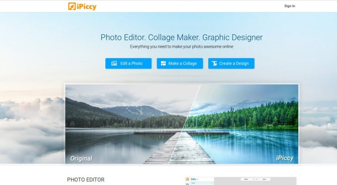 ipiccy - Create online photos of any software, in free