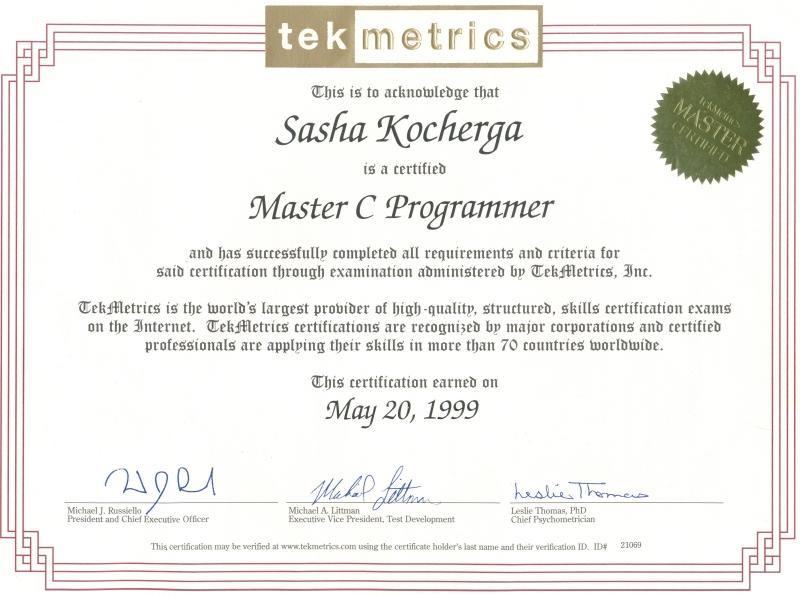 kocherha 39 s resume programmatore c vb c asp net