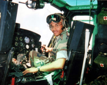 Pilot In A Helicopter