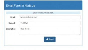 How to send email in nodejs