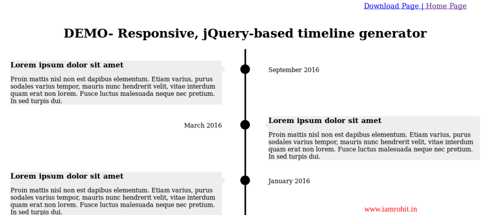 jquery-timeline