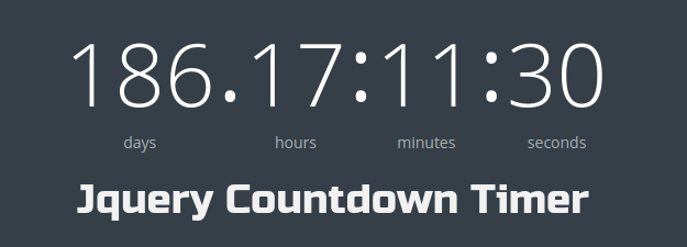 Easy to configure lightweight jQuery countdown timer plugin