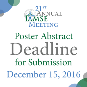 The Deadline For Poster Abstract Submission Is Quickly Drawing Near As A Reminder IAMSE Currently Accepting Oral And Abstracts To Be Presented