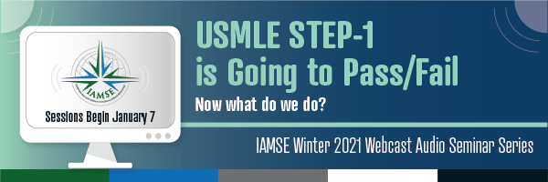 IAMSE WAS Winter 2021 Banner. Sessions Begin Janua