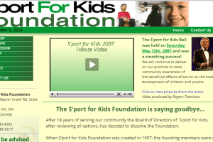 The S'port for Kids Foundation