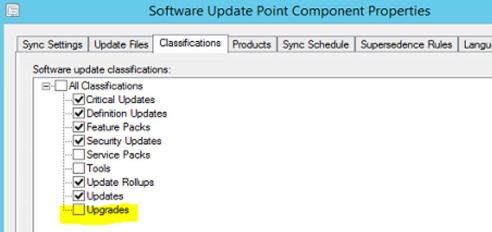 software update point upgrades