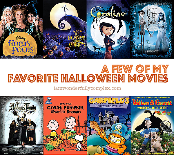 A Few of My Favorite Halloween Movies | Blog Post by iAmWonderfullyComplex.com