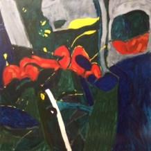 Garden painting 'Coronation Crescent'