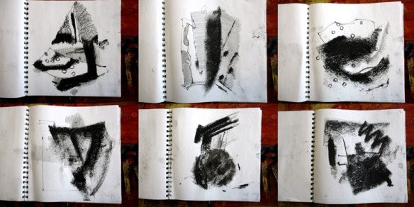 Sketchbook images from 8th May