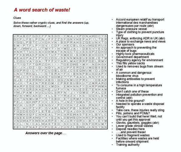 A Word Search of Waste
