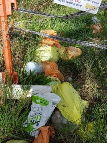 Fly-tippers dump clinical waste bags